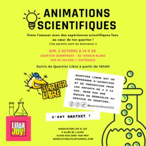 Animations scientifiques - Quartier Libre