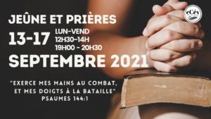 Jeune et prières 09-2021